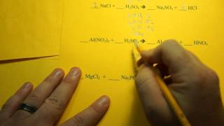 Balancing Chemical Equations (Double Replacement Reactions)