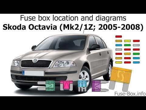 Where are fuses and relays located in Skoda Octavia II - смотреть