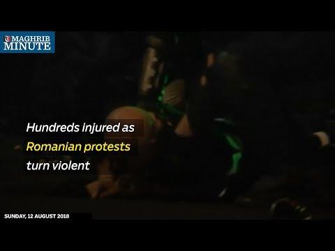 Hundreds injured as Romanian protests turn violent