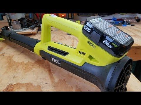 Ryobi One+ 18V Cordless 200 CFM Leaf Blower Review