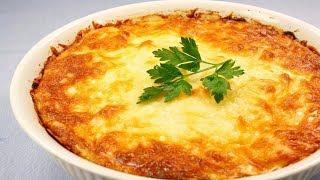 Картофельная запеканка с грибами в духовке рецепт!