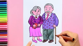 Grandparents Day - How to draw Grandparents