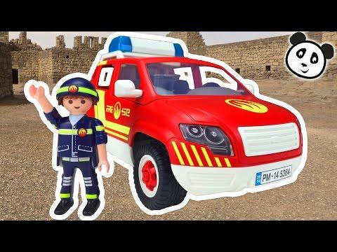 ⭕ PLAYMOBIL Feuerwehr 🔥 Brandmeisterfahrzeug 🔥 Spielzeug ausgepackt & angespielt - Pandido TV