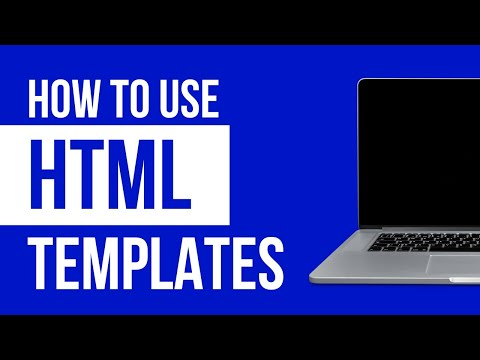 How To Use A HTML Website Template 2019 - YouTube