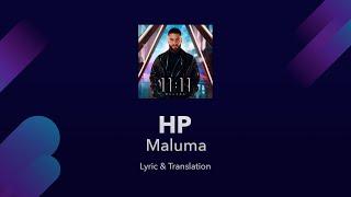 Maluma - HP Lyrics English Translation and Spanish Lyrics