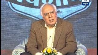 Watch Kapil Sibal face some tough questions on GhoshanaPatra