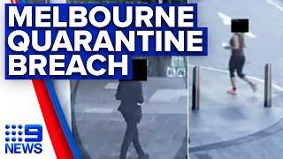 Coronavirus: Photos reveal returned travellers walking Melbourne CBD | 9News Australia
