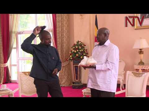 Are these shoes for football? - Museveni asks Kanye West after he gifted him sneakers