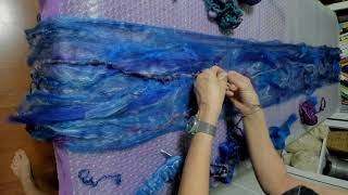 Wet Felting Tutorial - How To Wet Felt A Cobweb Scarf