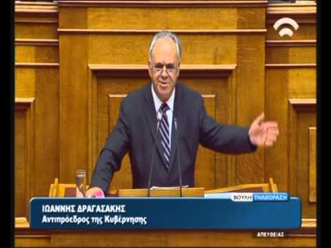 Ι. Δραγασάκης (Αντ. Κυβ.) για τις επείγουσες ρυθμίσεις εφαρμογής των δημοσ/ών στόχων (19/11/15)