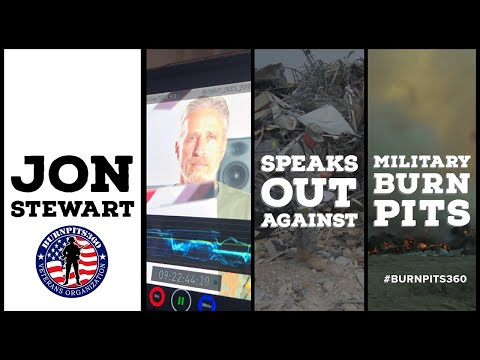 Jon Stewart Speaks Out Against Military Burn Pits