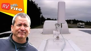 DIY Adjustable ANTENNA MOUNT - NO DRILLING HOLES in Your RV Roof