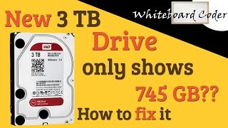 New 3 TiB Drive only has 745GB??