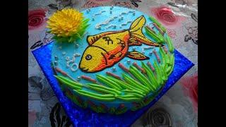 Торт для мужа с рыбалки в виде