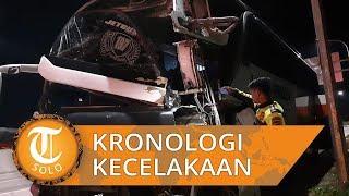 Kronologi Kecelakaan Bus Vs Truk di Tol Batang yang Akibatkan Seorang Meninggal Dunia