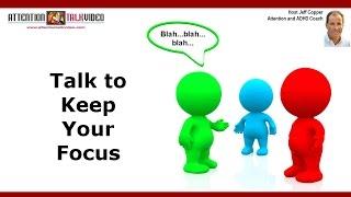 ADHD Tip: Keeping Focused