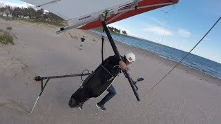 Electric Hanggliding On The Beach
