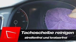 Tachoscheibe / Tachoglas richtig reinigen - streifenfrei und kratzerfrei ohne Waffeltuch !