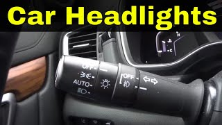 How To Operate Car Headlights In 2 Minutes-Driving Lesson
