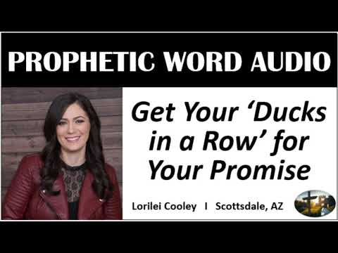 """, title : '""""Get Your 'Ducks in a Row' for Your Promise"""" - Prophetic Word from Lorilei Cooley"""