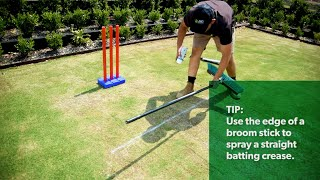 How to make your own Backyard Cricket Pitch