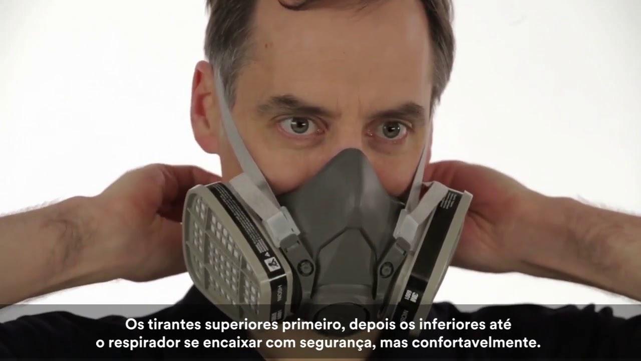 3M Colocação correta do Respirador 6200