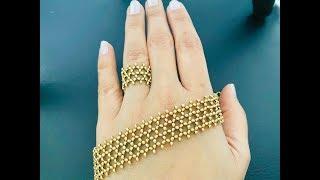 Beaded Lace Bracelet || How to make Beaded Bracelet