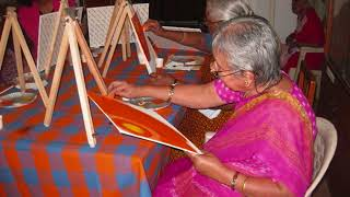 Painting session conducted by Rashmi Kothari!