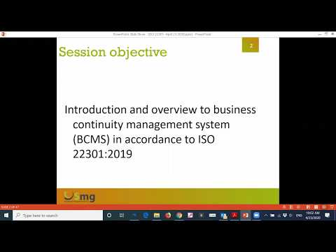 ISO 22301:2019 Business Continuity Management System - YouTube