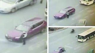 上海交警被违章车拖行10米致死 监控画面曝光 年仅32岁 妻子下月临盆
