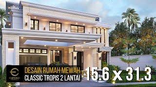 Video Desain Rumah Klasik 2 Lantai Bapak Hasbullah di  Jakarta