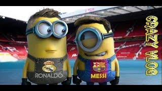 CraZy VloG #27 Barcelona vs Real Madrid Minions Cover Football  Cartoon