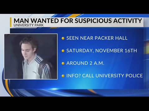 Man wanted for suspicious activity