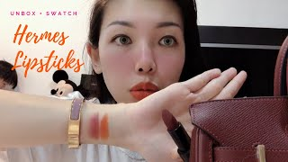 Unbox, Swatch & Review chi tiết son môi Hermes Lipsticks - daily Jaly