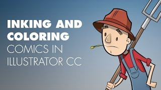 Quickly Inking and Coloring comics in Illustrator CC