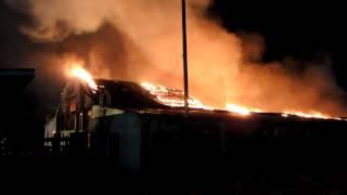 preview picture of video '2013.11.22 - Nowy Targ, pożar tartaku przy ul. Kolejowej'