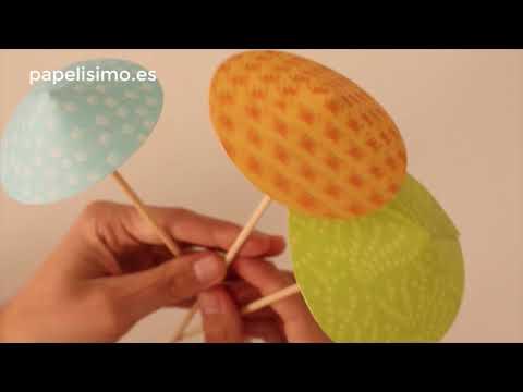 Cómo hacer sombrillas de papel y adornos para bebidas
