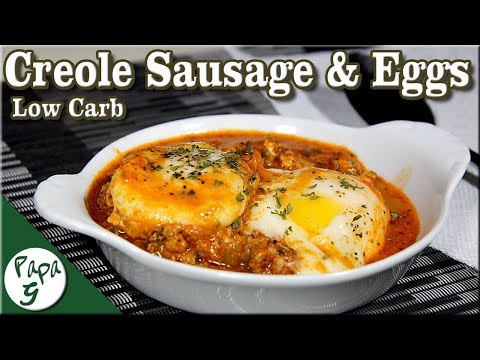 Creole Sausage and Eggs – Low Carb Keto Breakfast Brunch Recipe Ideas