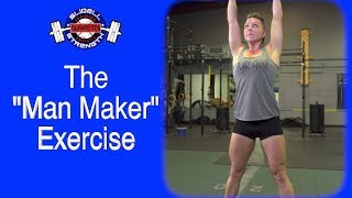 How To Do Man Makers With Dumbbells - CrossFit FYR