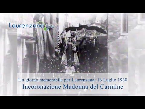 Preview video Video integrale e inedito di 33 minuti incoronazione Madonna del Carmine Laurenzana 16 luglio 1930