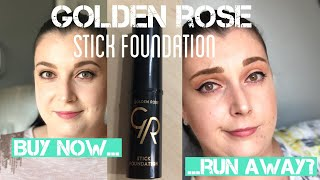 Golden Rose Stick Foundation / Тествам нов фон дьо тен