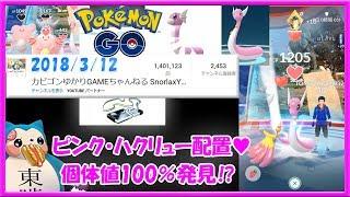 【140万回再生突破】ピンク ハクリュー配置に行ったら個体値100%発見?