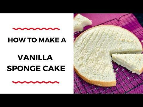 HOW TO MAKE A VANILLA SPONGE CAKE – CAKE RECIPES – ZEELICIOUS FOODS