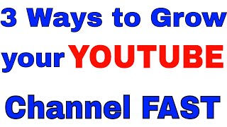 3 Ways to Grow your YOUTUBE Channel Fast and Examples of Utilitarian Marketing