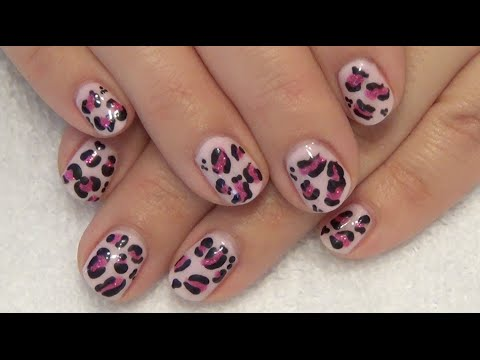 Download Pink Cheetah / Leopard Print Gel Nails HD Mp4 3GP Video and MP3