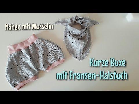 Sommer Buxe & Halstuch aus Musselin - Nähanleitung - OHNE Schnittmuster - Nähtinchen