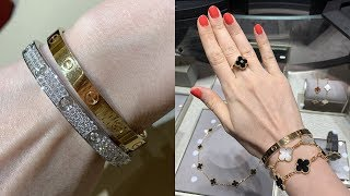 Cartier Full Diamond Love Bracelets | Van Cleef And Arpels Shopping Vlog