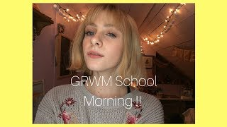GRWM MORNING ROUTINE !! FIRST VIDEO !!