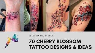 70 CHERRY BLOSSOM TATTOO DESIGNS & IDEAS [2019]