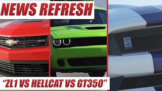 Ford Shelby GT350 Mustang vs Dodge Challenger SRT Hellcat vs Chevrolet Camaro ZL1